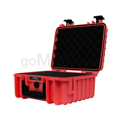 Str8 Case 13' with 3 Layer Pre-cut Foam - Fury Red