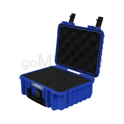 Str8 Case 8' with 2 Layer Pre-cut Foam - Cobalt Blue
