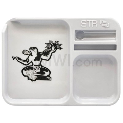 Str8 Melamine Rolling Tray Small - White