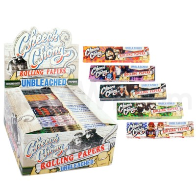Cheech & Chong Unbleached King Size Papers 50/pk 25ct/bx 50/