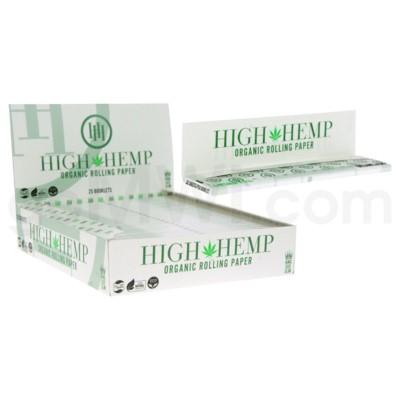 High Hemp Organic King Size Slim  Rolling Paper 32/pk 25ct/b