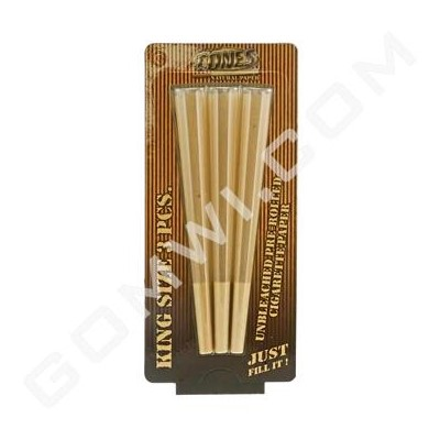 DISC Cones King unbleached 109mm 3ctBlister Pack / 50BX