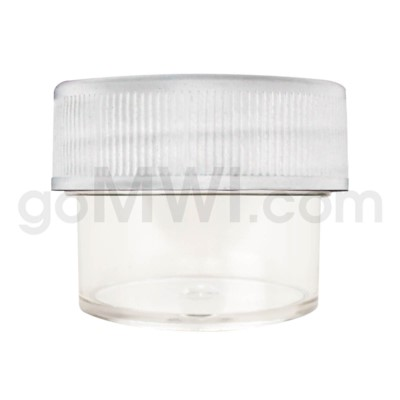 Ultra Platinum Vial Clear Plastic Container 28/20 - White