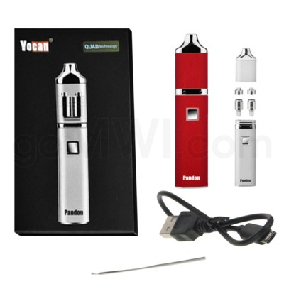 Yocan Pandon Quad 1300mah Concentrate Vaporizer Kit-Red