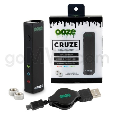 Ooze Cruze 650MAH Variable Voltage Battery- Black