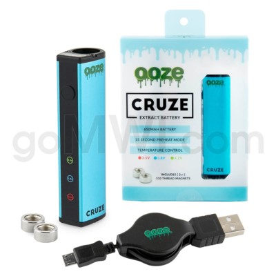 Ooze Cruze 650MAH Variable Voltage Battery- Blue