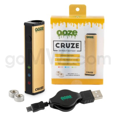 Ooze Cruze 650MAH Variable Voltage Battery- Gold