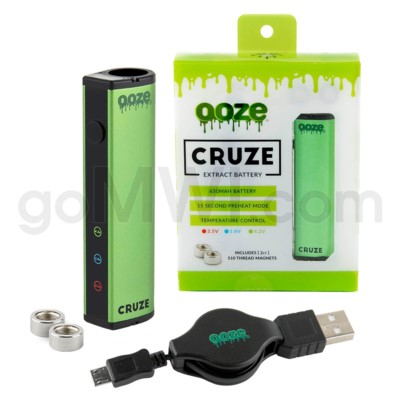 Ooze Cruze 650MAH Variable Voltage Battery- Green