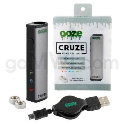 Ooze Cruze 650MAH Variable Voltage Battery- Silver
