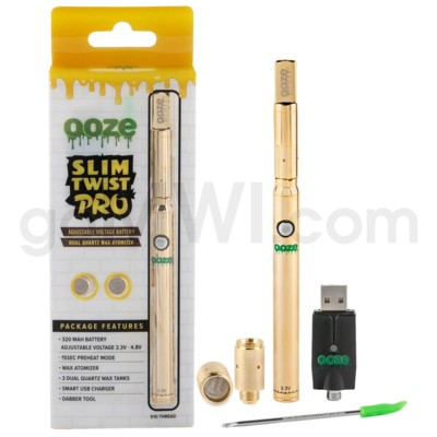 Ooze Slim Twist Pro Wax Pen- Gold