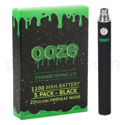 Ooze Standard Battery 1100mah/3.7v 5ct/display BLACK