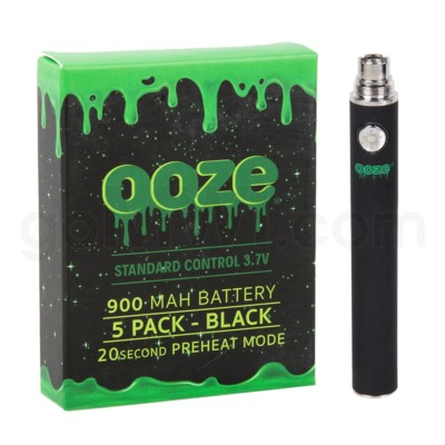 Ooze Standard Battery 900mah/3.7v 5ct/display BLACK