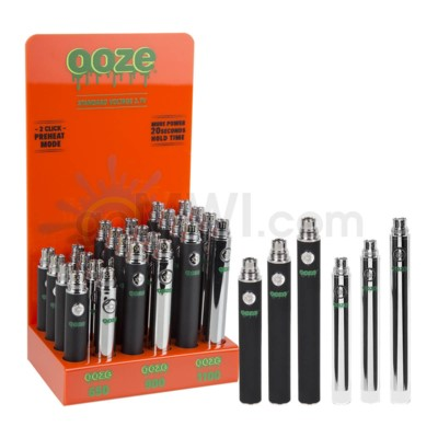 Ooze Standard Battery 650/900/1100mah/3.7v 24ct/display