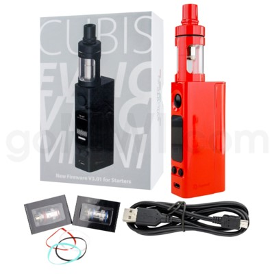 DISC Joyetech eVic VTC Mini w/ CUBIS E-Liquid Starter Kit Red