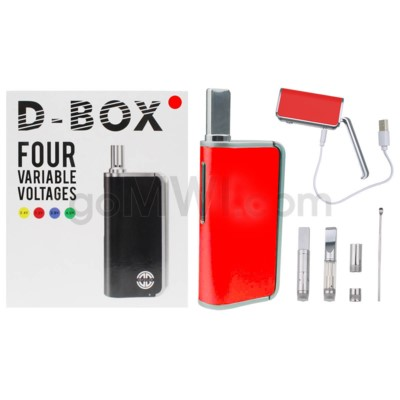 Dbox 1000mah / Variable V 3.4-4.0 2 in 1 Wax & Oil - Red