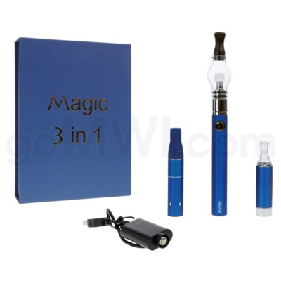 Magic EVOD 3-in-1 1100mah Vaporizer Pen-Blue