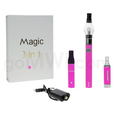 Magic EVOD 3-in-1 1100mah Vaporizer Pen-Pink