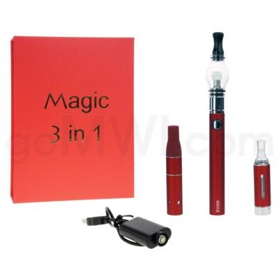 Magic EVOD 3-in-1 1100mah Vaporizer Pen-Red