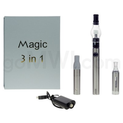 Magic EVOD 3-in-1 1100mah Vaporizer Pen-Silver