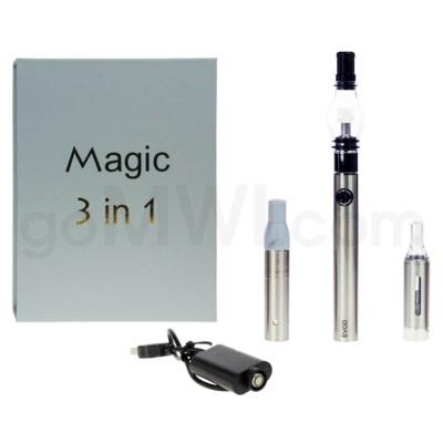 Magic EVOD 3-in-1 1100mah Vaporizer Pen-Stainless Steel