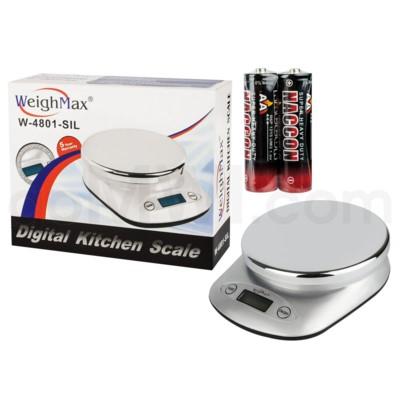 WeighMax 4801 5kg x 11 lbs Kitchen Scales - Sliver