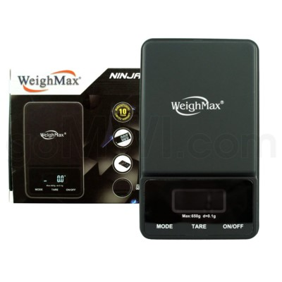DISC WeighMax 650g x 0.1g PocketBlack Scales