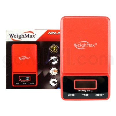 DISC WeighMax 650g x 0.1g PocketRed Scales