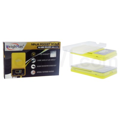 WeighMax NJ-800 800g x 0.1g Pocket Scales - Yellow