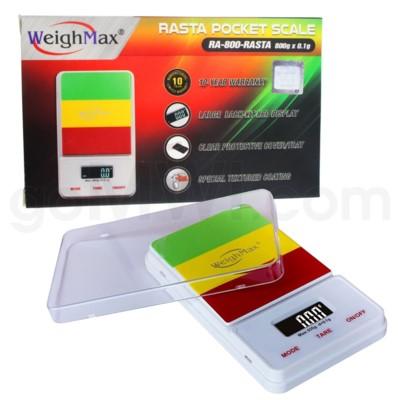 WeighMax RA -800 800g x 0.1g Pocket Scales - Rasta