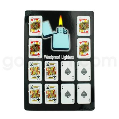 DISC Oil Lighter Poker Card 12PC/BX 30/CS 360 Total