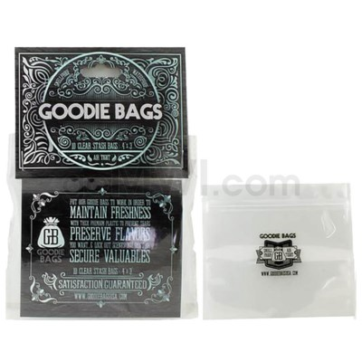 "Goodie Bags Smell Proof Ziplock Small Clear 4""x3"" 10CT/PK"