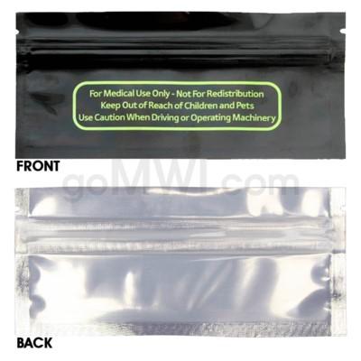 Mylar Bags Smell Proof Ziplock 120MM Blunt Sze 50CT/PK