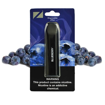 Z Pen Disposable Nic Salt E-Cig 5% Nicotine- Blueberry 5CT