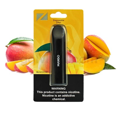 Z Pen Disposable Nic Salt E-Cig 5% Nicotine- Mango 5CT