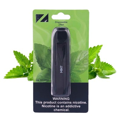 Z Pen Disposable Nic Salt E-Cig 5% Nicotine- Mint 5CT
