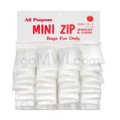 DISC  Zip Lock Bags CardBoard display 36ct @ 1 1/2