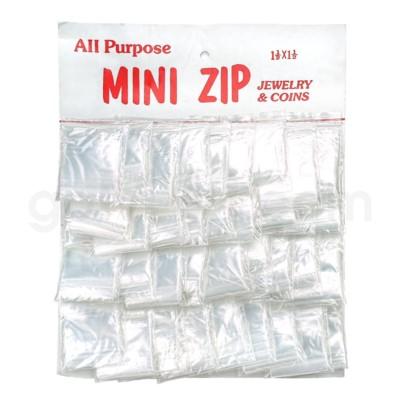 Zip Lock Bags CardBoard display 36ct  1 1/2