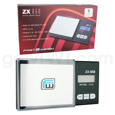 AWS ZX-650 650g x 0.1g Fast Weigh Scales