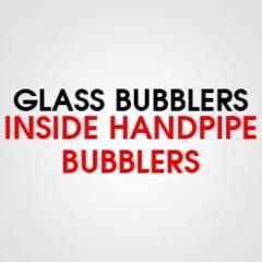 GLASS INSIDE HANDPIPE BUBBLER