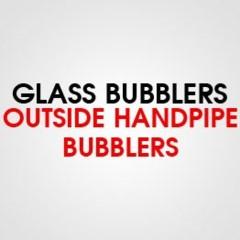 GLASS OUTSIDE HAND PIPE BUBBLER