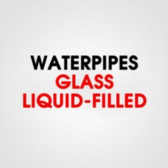 GLASS WATER PIPE LIQUID FILLED