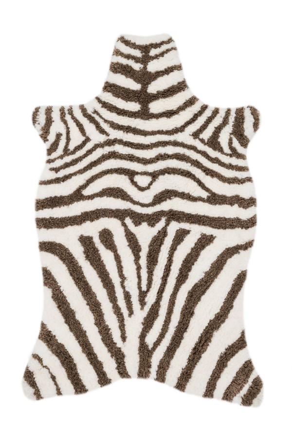 Loloi Zulu Shag: Ivory / Brown