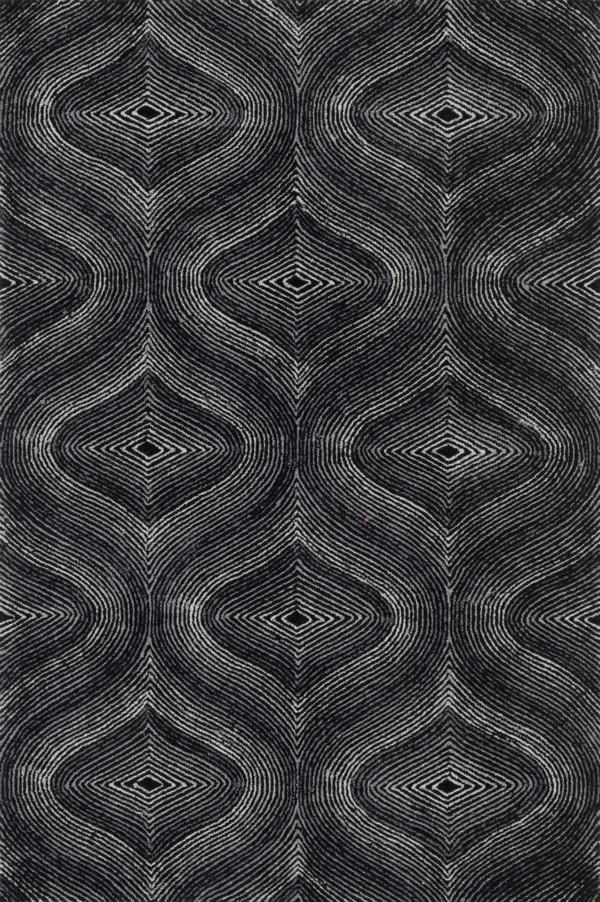 Loloi Boca: Black / Grey