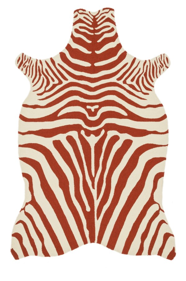 Loloi Zadie: Red / Ivory