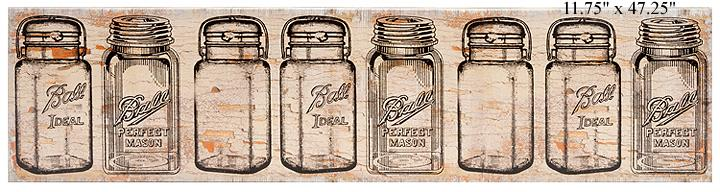 Mason Jar Canvas Wall Art ...  sc 1 st  WillsCo & WillsCo