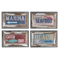 SHORELINE SIGNS (SET OF FOUR)