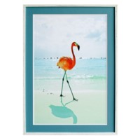 FLAMINGO ON BEACH