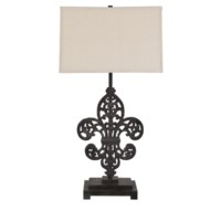 Iron Fleur De Lis Table Lamp