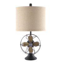 Antique Fan Table Lamp