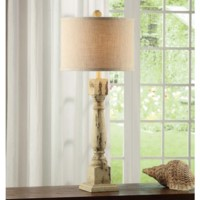 Antique Column Table Lamp